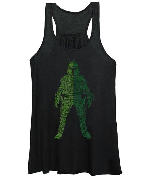 Boba Fett - Star Wars Art, Green 02 Women's Tank Top