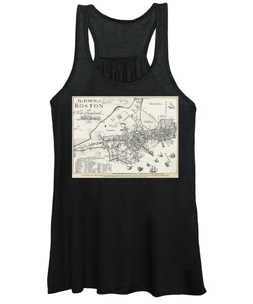 Boston Map, 1722 Women's Tank Top