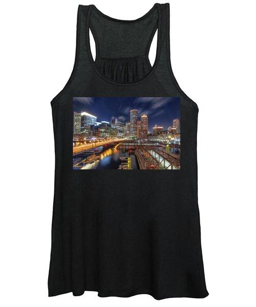 Boston's Skyline At Night Women's Tank Top