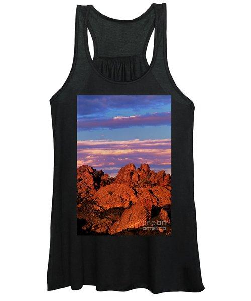 Boulders Sunset Light Pinnacles National Park Californ Women's Tank Top