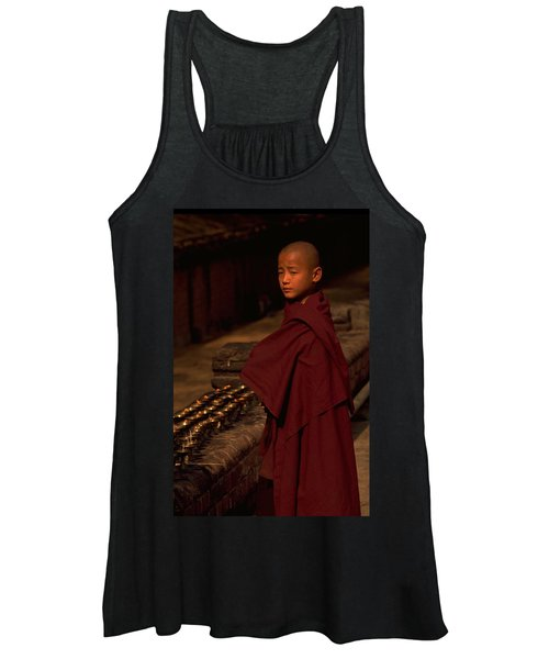 Boy Buddhist In Bodh Gaya Women's Tank Top