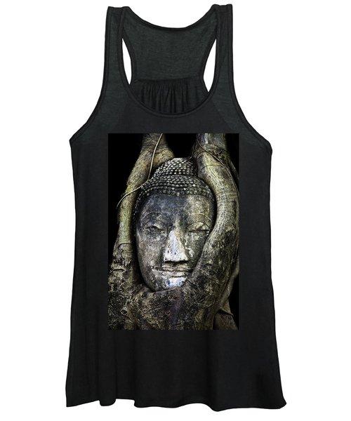 Buddha Head In Banyan Tree Women's Tank Top