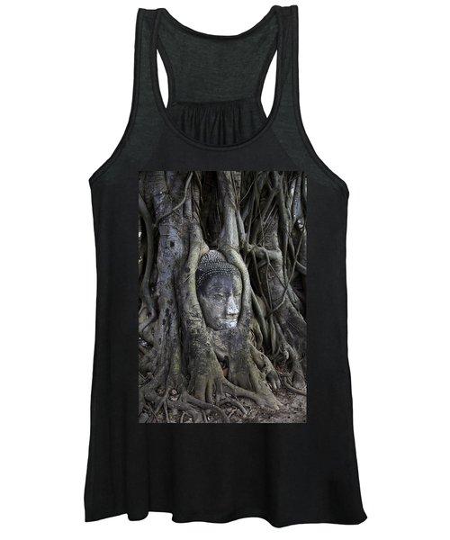 Buddha Head In Tree Women's Tank Top