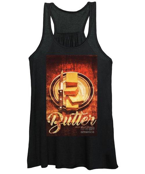 Butter Since Sliced Bread Display Women's Tank Top
