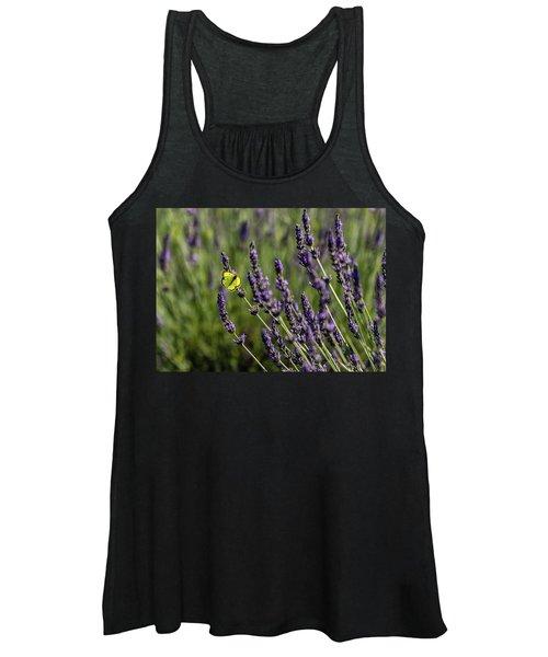 Butterfly N Lavender Women's Tank Top