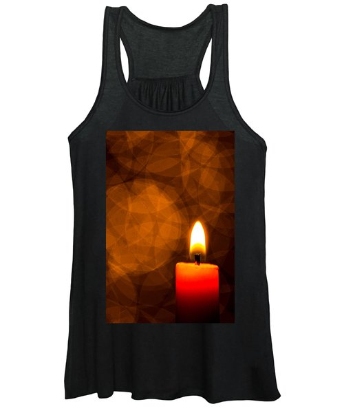 Women's Tank Top featuring the photograph By Candle Light by Bob Cournoyer