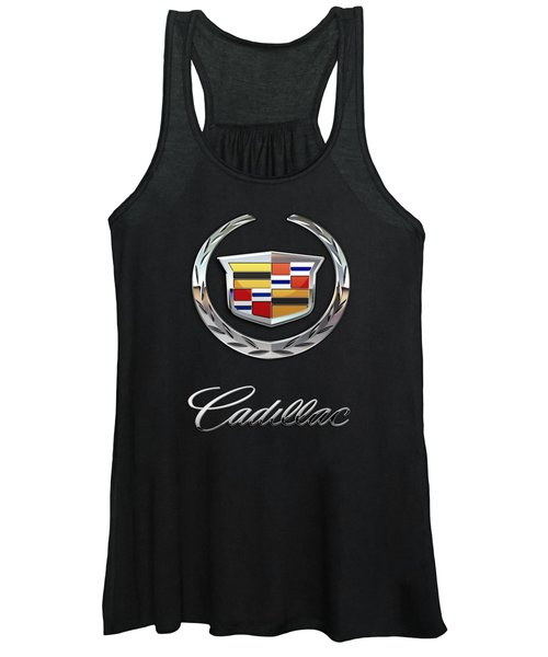 Cadillac - 3 D Badge On Black Women's Tank Top