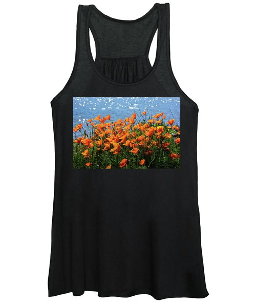 California Poppies By Richardson Bay Women's Tank Top