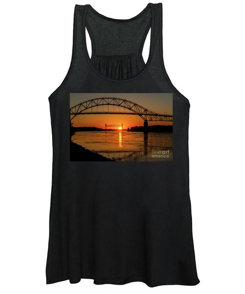 Cape Cod Canal Sunset Women's Tank Top
