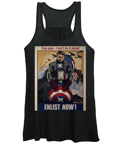 Captain America Recruiting Poster Women's Tank Top