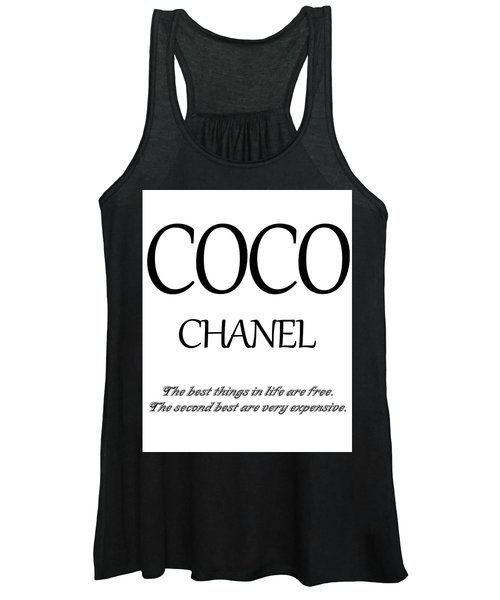Chanel Quote Women's Tank Top