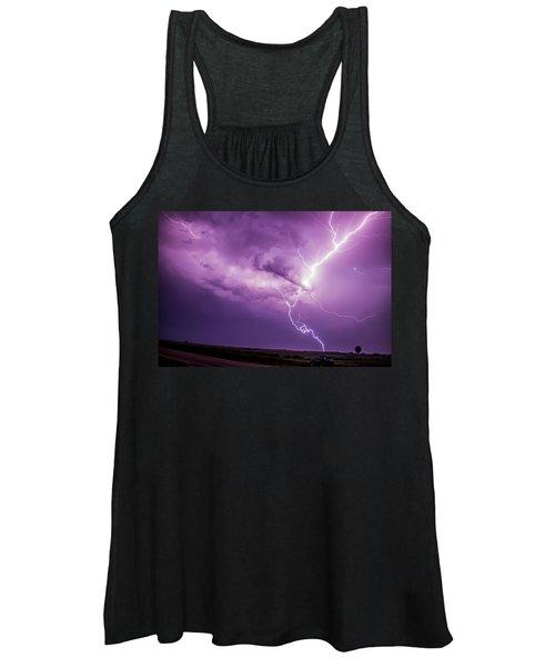 Chasing Nebraska Lightning 018 Women's Tank Top
