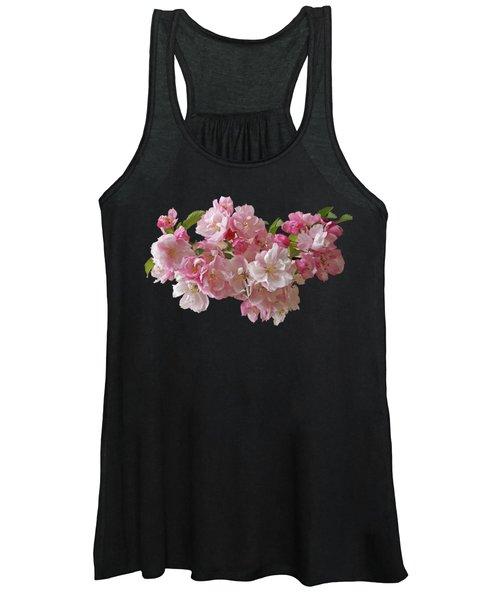 Cherry Blossom On Black Women's Tank Top