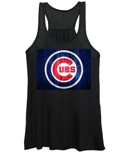 Chicago Cubs Barn Door Women's Tank Top