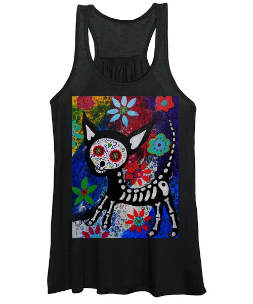 Chihuahua Day Of The Dead Women's Tank Top