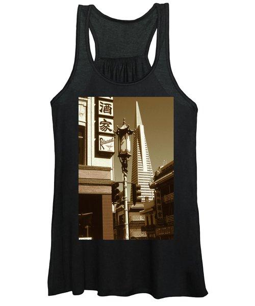 Chinatown San Francisco - Vintage Photo Art Women's Tank Top