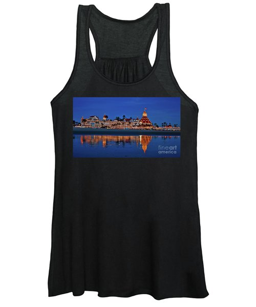 Christmas Lights At The Hotel Del Coronado Women's Tank Top