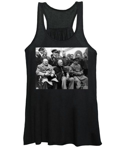Churchill, Roosevelt And Stalin Women's Tank Top
