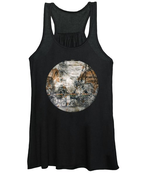 City-art Amsterdam Bicycles  Women's Tank Top