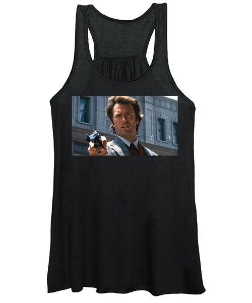 Clint Eastwood With 44 Magnum Dirty Harry 1971 Women's Tank Top