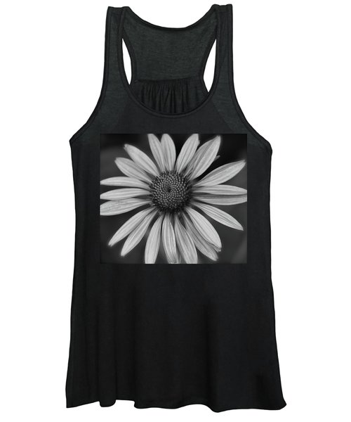 Coneflower In Black And White Women's Tank Top