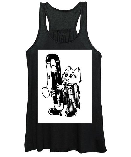 Contra Bassoon Cat Women's Tank Top
