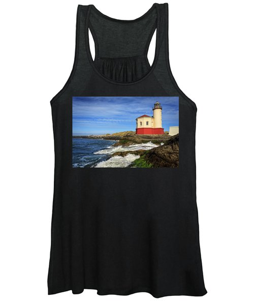 Coquille River Lighthouse At Bandon Women's Tank Top