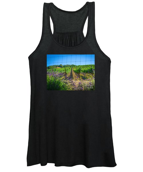 Country Lavender V Women's Tank Top