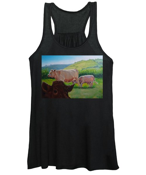 Cow And Calf Painting Women's Tank Top