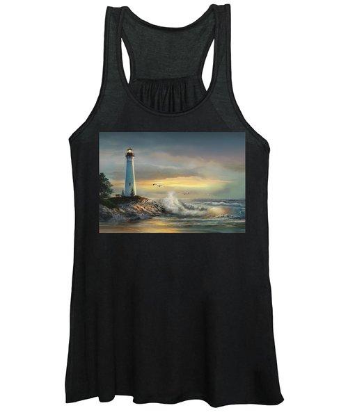 Crisp Point Lighthouse At Sunset  Women's Tank Top