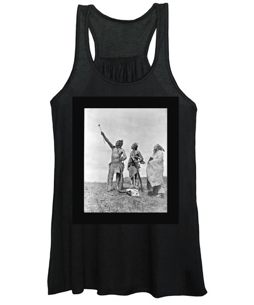 Women's Tank Top featuring the photograph Crow Indians Offering Food by John Feiser
