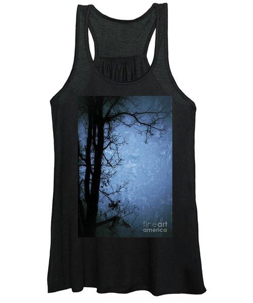 Dark Tree Silhouette  Women's Tank Top