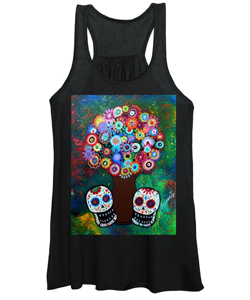 Day Of The Dead Love Offering Women's Tank Top
