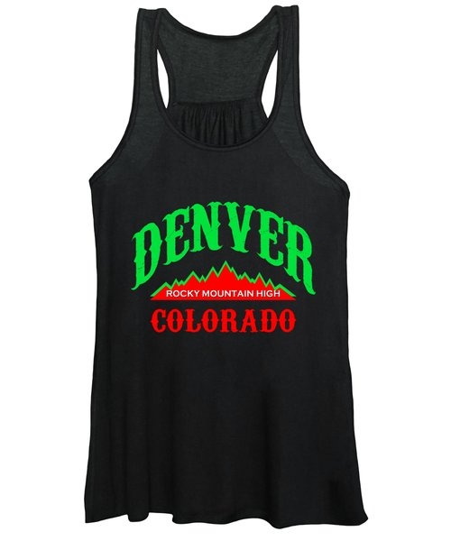 Denver Colorado Rocky Mountain Design Women's Tank Top