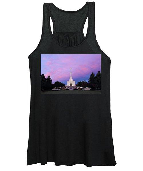 Denver Lds Temple At Sunrise Women's Tank Top