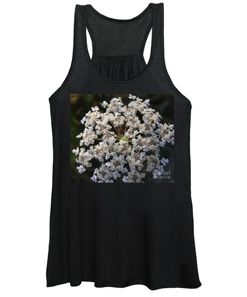 Dew On Queen Annes Lace Women's Tank Top