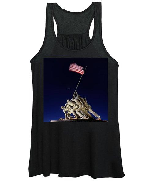Digital Liquid - Iwo Jima Memorial At Dusk Women's Tank Top