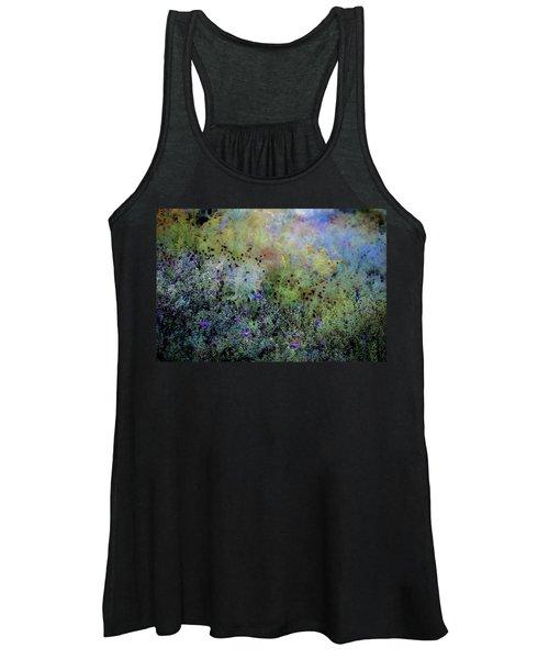 Digital Watercolor Field Of Wildflowers 4064 W_2 Women's Tank Top