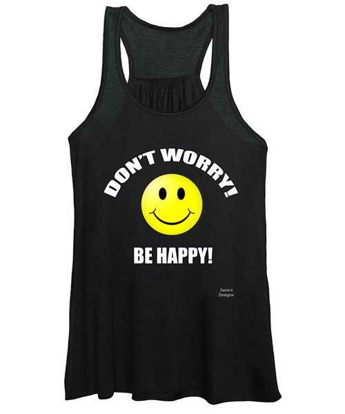 Don't Worry Be Happy Smiley Face Women's Tank Top