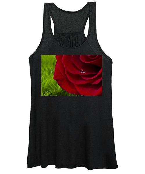 Drop On A Rose Women's Tank Top
