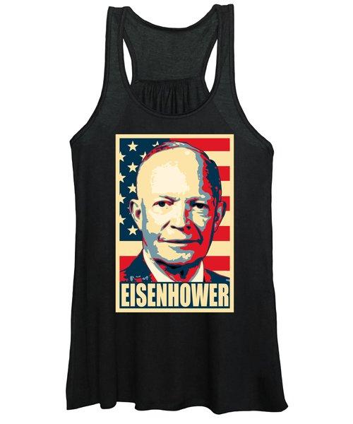 Dwight D. Eisenhower Amercian Propaganda Poster Art Women's Tank Top