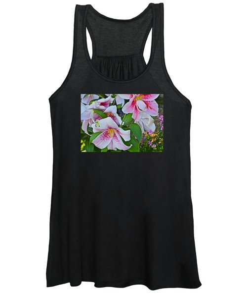 Early August Tumble Of Lilies Women's Tank Top