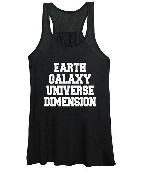 Earth Galaxy Universe Dimension Women's Tank Top