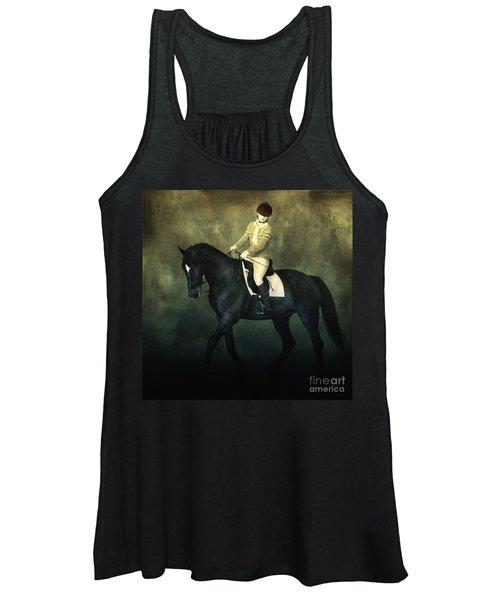 Elegant Horse Rider Women's Tank Top