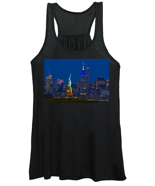 Empire State And Statue Of Liberty II Women's Tank Top
