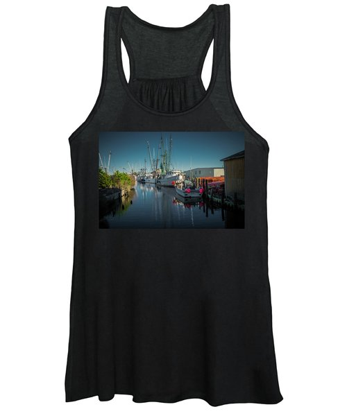 Englehardt,nc Fishing Town Women's Tank Top