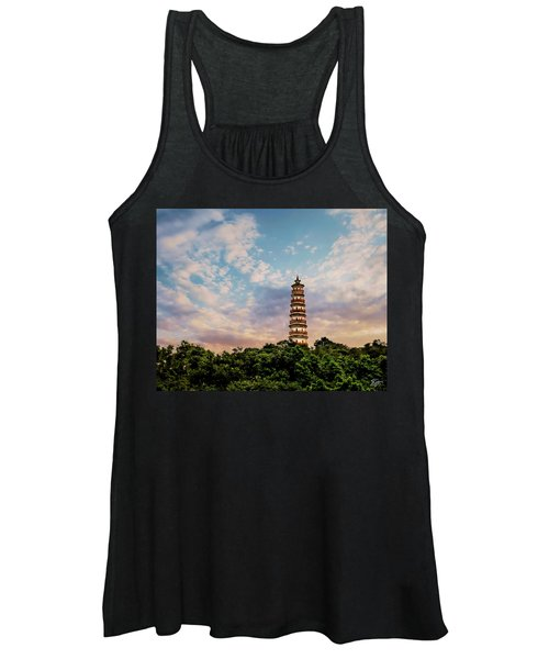 Far Distant Pagoda Women's Tank Top