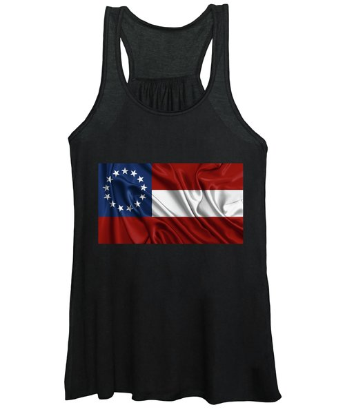 First Flag Of The Confederate States Of America - Stars And Bars 1861-1863 Women's Tank Top