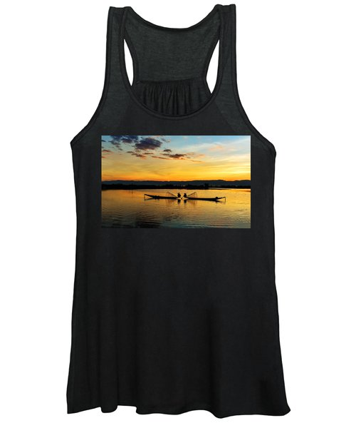 Fisherman On Their Boat Women's Tank Top
