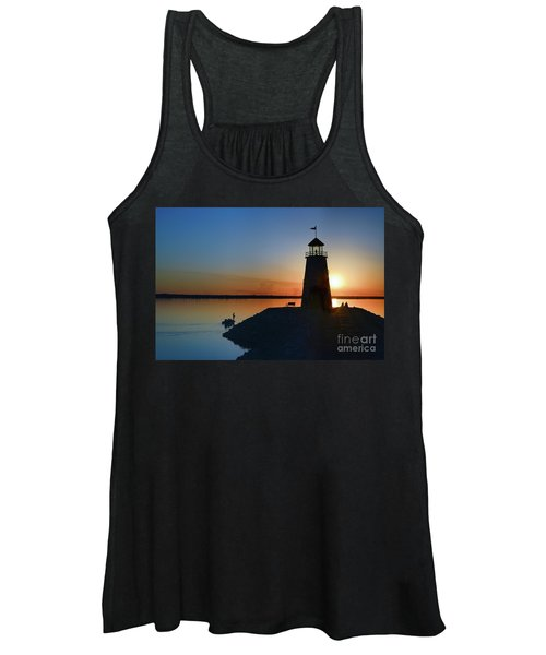 Fishing At The Lighthouse Women's Tank Top